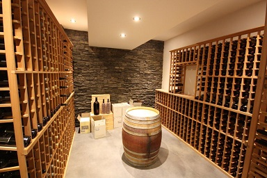 Elite Kit racking - cellar built and racking installed by Design Renovations
