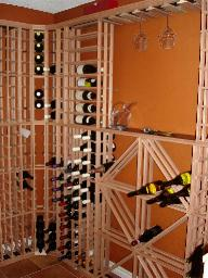 Calagery wine racking client installed