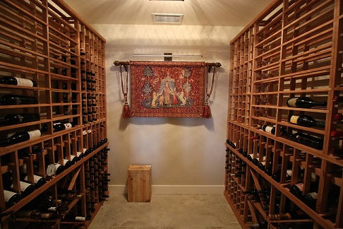 Collector's Eddition Redwood wine racking installed by Design Renovations