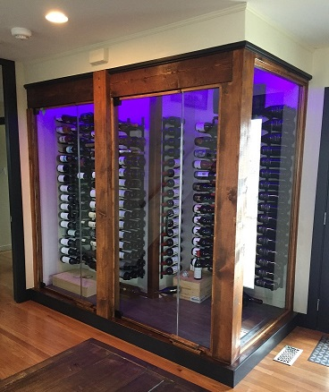 Kelowna residence with Label View wine racking & KoolR cooling unit