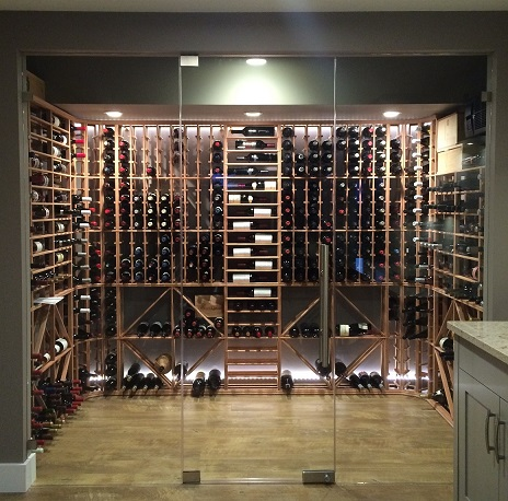 Redrack wine racking & KoolR cooling unit installed by Strictly Cellars