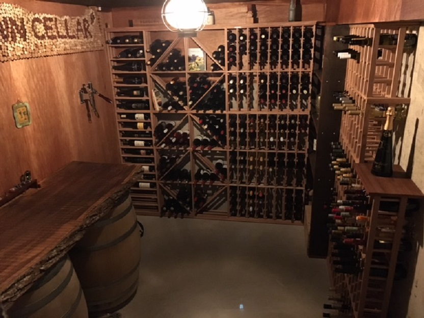Redrack wine racking, client installed, Chilliwack, BC